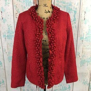 Chico's red blazer jacket